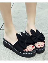 cheap -Women's Shoes PU(Polyurethane) Summer Comfort Slippers & Flip-Flops Flat Heel Black / Yellow / Pink