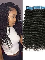 Недорогие -3 Связки Перуанские волосы Кудрявый Натуральные волосы Человека ткет Волосы / Удлинитель 8-28 дюймовый Нейтральный Естественный цвет Ткет человеческих волос Машинное плетение Лучшее качество / 100