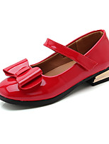 cheap -Girls' Shoes PU(Polyurethane) Spring & Summer Comfort Flats Walking Shoes Bowknot / Magic Tape for Teenager Black / Red / Pink