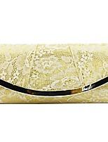 cheap -Women's Bags Silk Evening Bag Lace Gold / Black / Silver