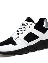 cheap -Men's Comfort Shoes Cowhide Spring Sneakers White / Black