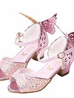 Недорогие -Девочки Обувь Искусственная кожа Лето Детская праздничная обувь / Крошечные Каблуки для подростков Сандалии для Белый / Синий / Розовый