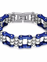 cheap -Men's Stylish Chain Bracelet - Titanium Steel, Stainless Creative, Bike Statement, European, Trendy Bracelet Dark Blue / Purple / Red For Carnival / Holiday