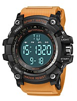 cheap -SANDA Men's Sport Watch Digital Watch Japanese Digital 30 m Water Resistant / Water Proof Calendar / date / day Stopwatch Silicone Band Digital Luxury Fashion Black / Red / Orange - Black / Red Khaki