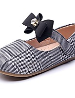 cheap -Girls' Shoes Synthetics Spring &  Fall Comfort / Flower Girl Shoes Flats Rhinestone / Bowknot / Magic Tape for Kids Blue / Black / White / Party & Evening