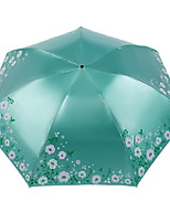 cheap -Polyester / Stainless steel Women's Sunny and Rainy Folding Umbrella
