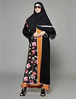 abordables -Abaya Femme - Créatif / Multicolore Bohème / Sophistiqué Mosaïque / Jacquard / Imprimé