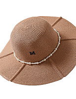 cheap -Women's Basic / Holiday Straw Hat - Solid Colored