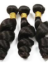 Недорогие -3 Связки Бразильские волосы Перуанские волосы Свободные волны 8A Натуральные волосы Необработанные натуральные волосы Головные уборы Человека ткет Волосы Сувениры для чаепития 8-28 дюймовый