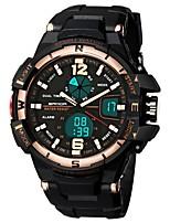 Недорогие -SANDA Муж. Спортивные часы / электронные часы Японский Календарь / Защита от влаги / С двумя часовыми поясами силиконовый Группа Роскошь / Мода Черный