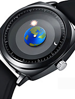 cheap -Men's Dress Watch / Wrist Watch Japanese Creative / Cool Silicone Band Casual / Fashion Black