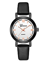 cheap -Geneva Women's Wrist Watch Quartz New Design Casual Watch Cool Leather Band Analog Casual Fashion Black - Black Black / White Black / Rose Gold One Year Battery Life