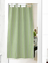 cheap -Door Panel Curtains Drapes Living Room Solid Colored Cotton / Polyester Reactive Print