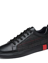 cheap -Men's Comfort Shoes Nappa Leather Spring / Summer Sneakers Black