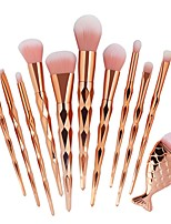 cheap -11pcs Makeup Brushes Professional Make Up Fiber Professional Plastic