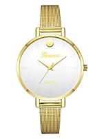 baratos -Geneva Mulheres Relógio de Pulso Chinês Novo Design / Relógio Casual / Legal Lega Banda Casual / Fashion Dourada