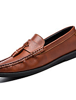cheap -Men's PU(Polyurethane) Fall Comfort Loafers & Slip-Ons Black / Brown / Red