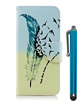 cheap -Case For Huawei P20 Pro / P20 lite Wallet / Card Holder / with Stand Full Body Cases Feathers Hard PU Leather for Huawei P20 / Huawei P20 Pro / Huawei P20 lite