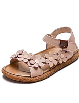 cheap -Girls' Shoes PU(Polyurethane) Spring & Summer Comfort Sandals Flower for Kids Beige / Brown / Pink