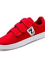 Недорогие -Муж. Полотно Лето Удобная обувь Кеды Черный / Красный / Синий