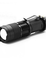 cheap -ismartdigi i-68 LED Flashlight LED Flashlights / Torch Portable / Anti-skidding Camping / Hiking / Caving / Everyday Use / Hunting Black