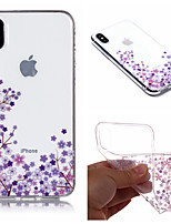 abordables -Coque Pour Apple iPhone X / iPhone 8 Plus IMD / Motif Coque Fleur Flexible TPU pour iPhone X / iPhone 8 Plus / iPhone 8