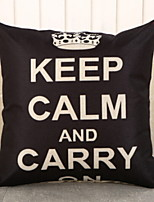 cheap -1 pcs Brocade / Polyester Pillow, Quotes & Sayings Square