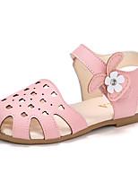 Недорогие -Девочки Обувь Полиуретан Весна лето Удобная обувь Сандалии Для прогулок На липучках для Дети Бежевый / Розовый