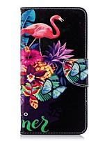 abordables -Coque Pour Huawei P20 Pro / P20 lite Portefeuille / Porte Carte / Avec Support Coque Intégrale Flamant Dur faux cuir pour Huawei P20 / Huawei P20 Pro / Huawei P20 lite