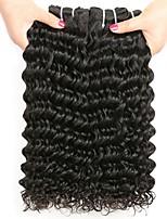 Недорогие -4 Связки Малазийские волосы Крупные кудри Натуральные волосы Подарки / Человека ткет Волосы / Сувениры для чаепития 8-28 дюймовый Естественный цвет Ткет человеческих волос