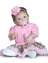 cheap -NPKCOLLECTION Reborn Doll Baby Girl 24 inch Full Body Silicone / Vinyl - Artificial Implantation Blue Eyes Kid's Girls' Gift