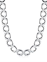 cheap -Men's Single Strand Chain Necklace - Silver Plated Simple, Basic, Fashion Cool Silver 50 cm Necklace Jewelry 1pc For Daily, Work
