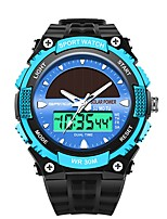 cheap -SANDA Men's Sport Watch Digital Watch Japanese Digital 30 m Water Resistant / Water Proof Calendar / date / day Stopwatch Plastic Band Analog-Digital Luxury Fashion Black - Red Blue Golden