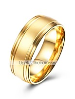 cheap -Men's Classic Band Ring - Stainless Creative Simple, Basic 8 / 9 Gold For Daily / Work