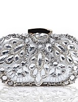 cheap -Women's Bags Polyester / Alloy Evening Bag Crystals Silver