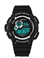 cheap -SANDA Men's Sport Watch / Digital Watch Japanese Calendar / date / day / Water Resistant / Water Proof / Cool Word / Phrase Silicone Band Luxury / Fashion Black