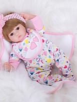 Недорогие -FeelWind Куклы реборн Девочки 18 дюймовый как живой, Ручные прикладные ресницы, Гофрированные и запечатанные ногти Детские Девочки Подарок / Естественный тон кожи / Головка дискеты
