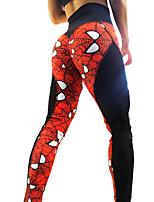 preiswerte -Damen Alltag Sportlich Legging - Geometrisch / Einfarbig Mittlere Taillenlinie