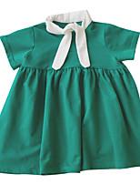 economico -Bambino (1-4 anni) Da ragazza Tinta unita Manica corta Vestito