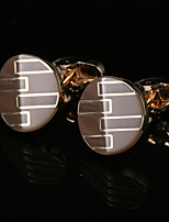 cheap -Geometric Golden Cufflinks Copper / Alloy Vintage / Basic Men's Costume Jewelry For Party / Gift
