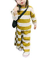Недорогие -малыш Девочки Уличный стиль Полоски Длинный рукав Набор одежды / Дети (1-4 лет)