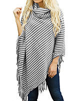 cheap -Women's Going out Long Sleeve Loose Long Pullover - Striped