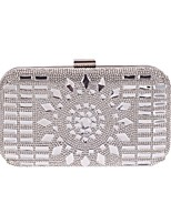 cheap -Women's Bags Polyester Evening Bag Buttons / Crystals Champagne / Gray / Silver