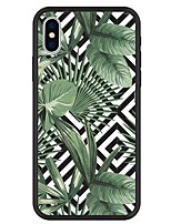 economico -Custodia Per Apple iPhone X / iPhone 8 Plus Fantasia / disegno Per retro Piante / Geometrica / Cartoni animati Resistente Acrilico per iPhone X / iPhone 8 Plus / iPhone 8