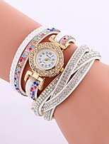 cheap -Women's Bracelet Watch Chinese Imitation Diamond PU Band Casual / Fashion Black / White / Blue
