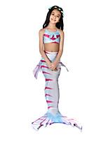 cheap -The Little Mermaid Swimwear Bikini Costume Girls' Halloween Carnival Festival / Holiday Halloween Costumes Outfits Fuchsia Mermaid Vintage