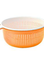 abordables -Herramientas de cocina Plásticos Simple / Manualidades Herramientas de Limpieza / Canasta de frutas Múltiples Funciones / para vegetal / Para utensilios de cocina 2pcs