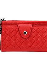 cheap -Women's Bags PU(Polyurethane) Wallet Buttons / Zipper Blushing Pink / Purple / Dark Grey