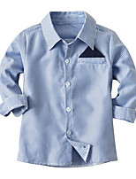 cheap -Kids Toddler Boys' Basic Striped Long Sleeve Shirt Blue