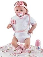 Недорогие -FeelWind Куклы реборн Девочки 20 дюймовый как живой, Искусственные имплантации Голубые глаза, Гофрированные и запечатанные ногти Детские Девочки Подарок